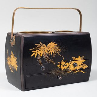 Japanese Lacquer Tobacco Set