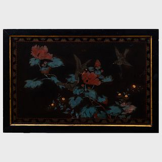 Pair of Japanese Lacquer Panels