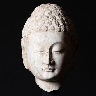 Chinese Limestone Head of a Buddha