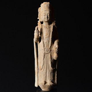 Chinese Limestone Figure of Bodhisattva