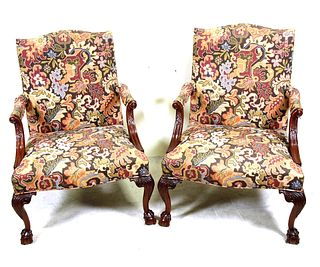 PAIR OF GEORGIAN STYLE ARMCHAIRS BY SOUTHLAND INC.