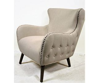 CONTEMPORARY TUFTED ACCENT CLUB CHAIR
