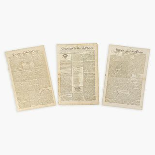 [Hamilton, Alexander] [Public Credit, etc.] Group of 3 Issues of the Gazette of the United States