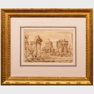 Italian School: Sketch of a Roman Scene