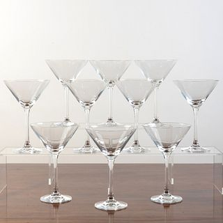 Set of Ten Martini Glasses