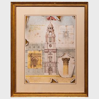 Miriam Escofet (b. 1967): Elevation of the East Entrance to the Treasury, Great George Street, London