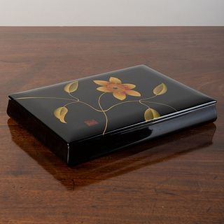 Japanese Gilt-Decorated Black Lacquer Box
