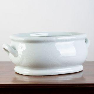 English White Glazed Foot Bath