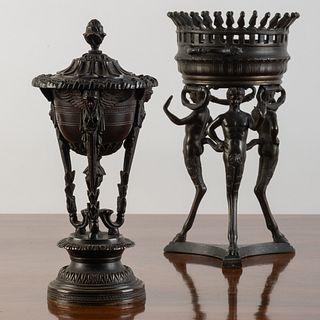 Two Italian Bronze Athéniennes