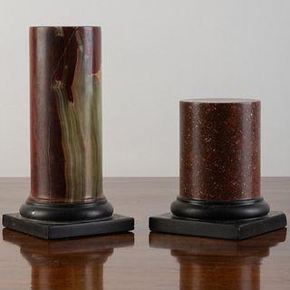Porphyry and a Jasper Columnar Table Pedestal