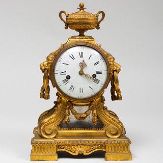 Louis XVI Ormolu Mantel Clock, After a Design by Le Duc