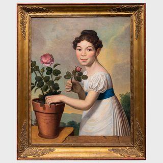 French School: Portrait of Cheresine Rocarier Gout