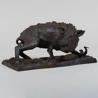 After Gesualdo Gatti (1855-1893):  Wild Boar