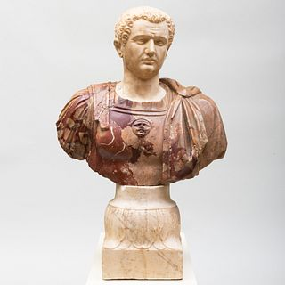 Italian Carved Marble Bust of a Domitian