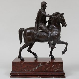 Italian Bronze Model of Marcus Aurelius on Horseback