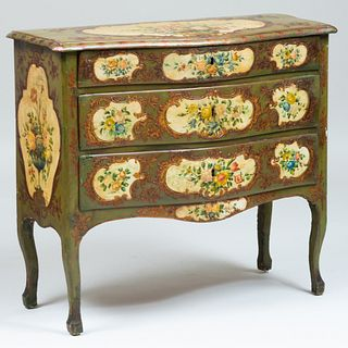 Italian Rococo Painted Commode