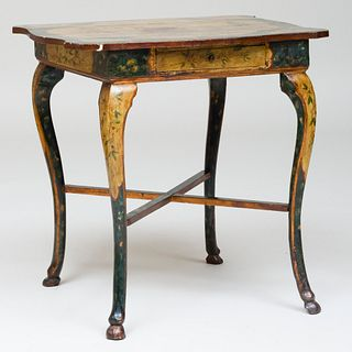 Italian Painted Side Table, in the Chinoiserie Taste