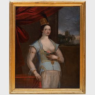 Continental School: Portrait of a Venetian Sultana or a Persian Queen