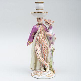Ansbach Porcelain Fantastical Candlestick