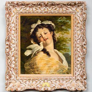 Gustave Jean Jacquet (1846-1909): Jeune fille à la colombe