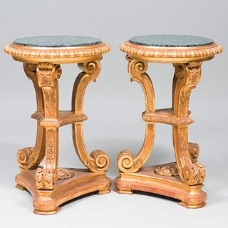 Pair of Régence Style Giltwood Pedestals