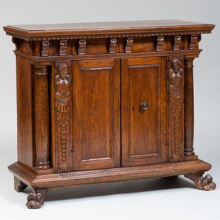 Italian Late Renaissance Style Walnut Side Cabinet