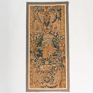 Flemish Verdure Tapestry Border Fragment
