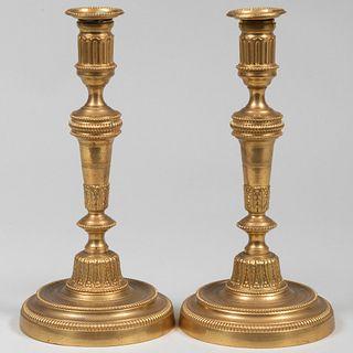 Pair of Louis XVI Ormolu Candlesticks