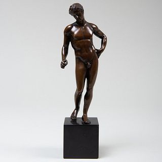 Bronze of a Male Nude Athlete, After the Antique