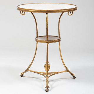 Directoire Style Gilt-Bronze-Mounted Marble Guéridon