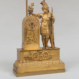 Charles X Ormolu Figural Mantel Clock