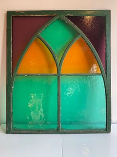 Gothic Arch Stained Glass Window