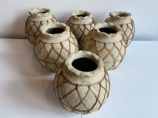 Collection Paper Mache Water Pots