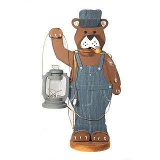 Train Room Bear Mascot