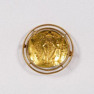 BYZANTINE GOLD COIN, ALEXIS I COMNEUS 1081-1118