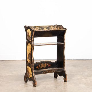 19TH C. FRENCH LACQUERED CHINOISERIE BOOKSTAND
