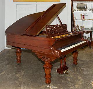 HAZELTON VICTORIAN MAHOGANY PARLOR GRAND PIANO