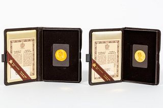 1979 & 1980 $100 22K GOLD, CANADIAN PROOF COINS