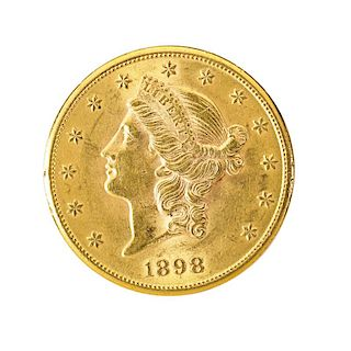 U.S. 1898-S $20.00 GOLD COIN