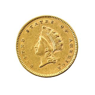 U.S. 1854 TYPE 2 $1.00 GOLD COIN