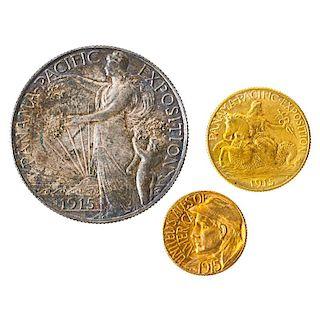 U.S. 1919-S PANAMA PACIFIC 3 COIN SET