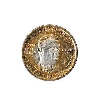 U.S. BOOKER T. WASHINGTON COMMEMORATIVE 50C. COIN