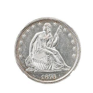 U.S. 1876 50C. COIN
