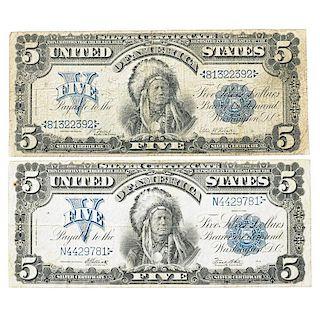 U.S. $5.00 SILVER CERTIFICATES