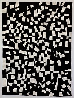 Black and White Pieced Throw