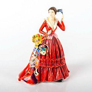 The English Ladies Co, Bone China Figurine, The Mask Seller