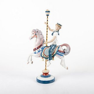 Boy on Carrousel Horse 01001470 - Lladro Porcelain Figure
