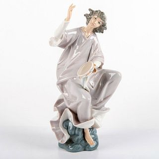 Angel with Tambourine 1001320 - Lladro Porcelain Figurine