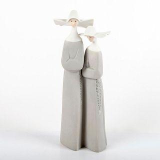 Nuns (Grey) 01014611a - Lladro Porcelain Figurine