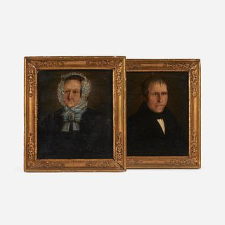 Pair of Victorian Oil Portraits